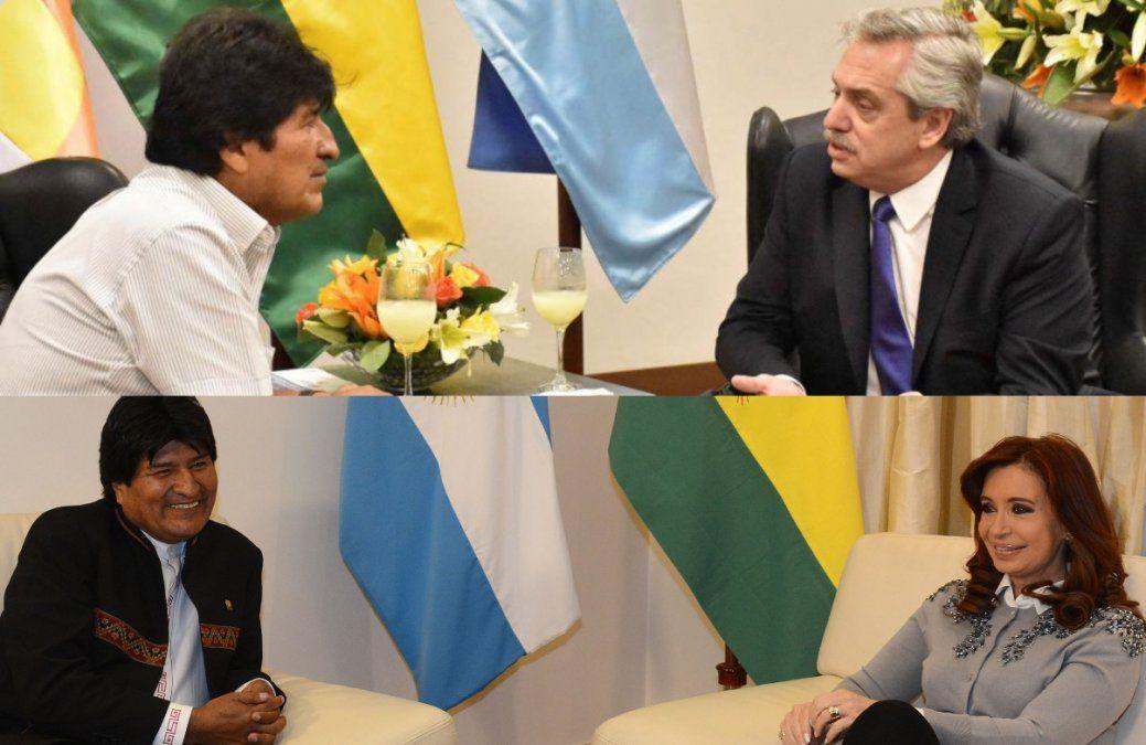 Alberto y Cristina opinaron tras la renuncia de Evo Morales