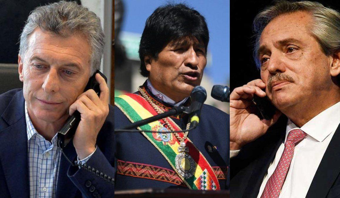 Alberto le pidió a Macri asilo para Evo Morales y ex funcionarios bolivianos
