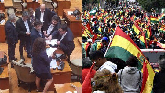 En Jujuy, los diputados repudiaron el golpe de estado en Bolivia con una insólita pelea