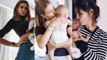 La tierna foto de Marcela Kloosterboer, Violeta Urtizberea y Agustina Cherri con sus bebés