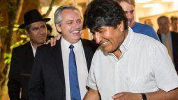 alberto fernandez dijo que seria un orgullo recibir a evo morales en argentina