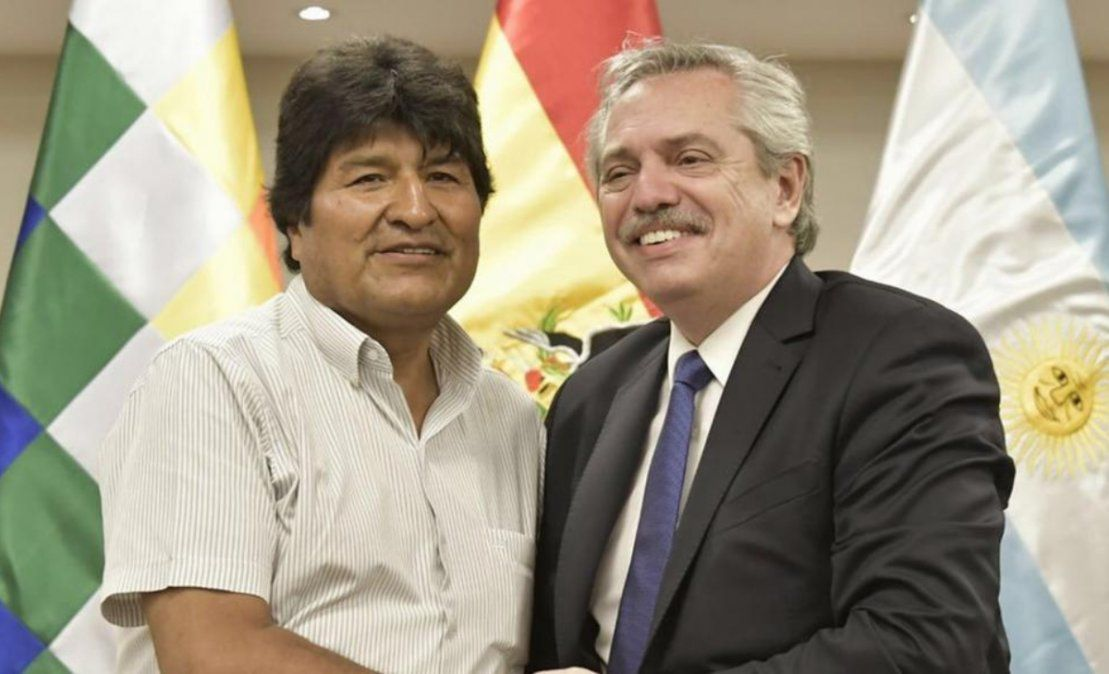 Evo Morales agradeció la invitación de Alberto Fernández