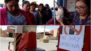 Crisis en Bolivia: largas filas para conseguir alimentos y nafta