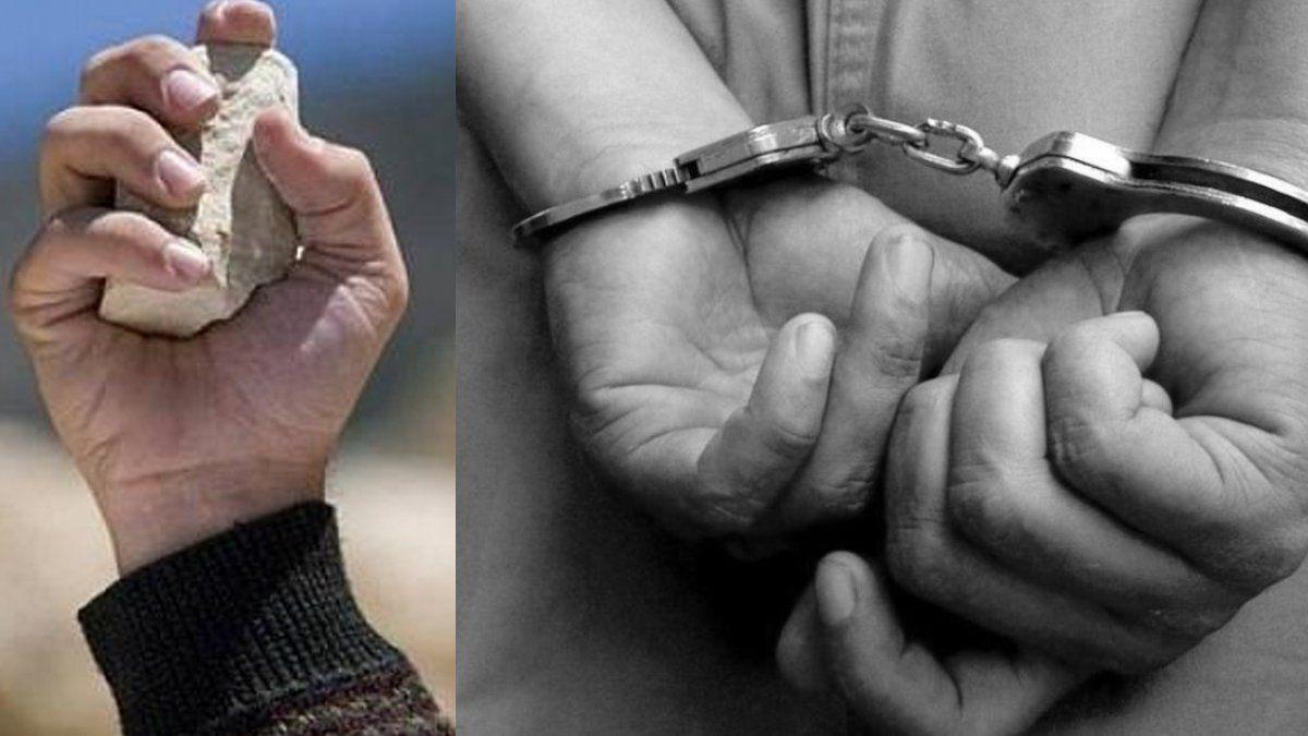 Dos detenidos por arrojar piedras contra policías | dos detenidos, operativo policial, B° Malvinas - Jujuy al Momento