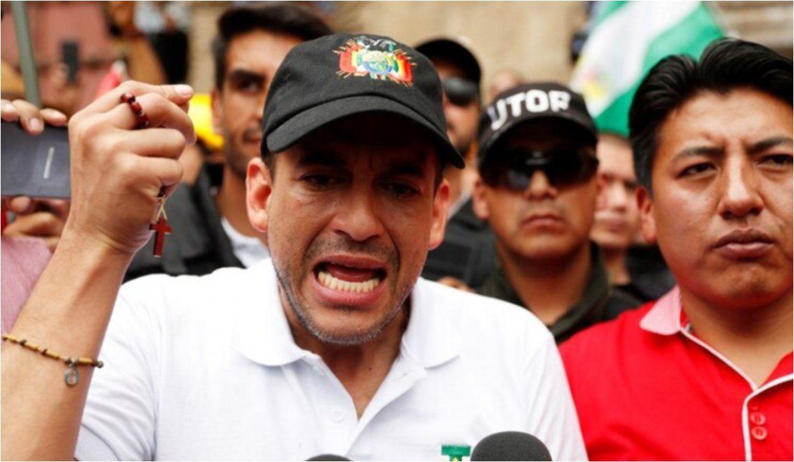 Luis Fernando Camacho pidió que las elecciones en Bolivia sean el 19 de enero