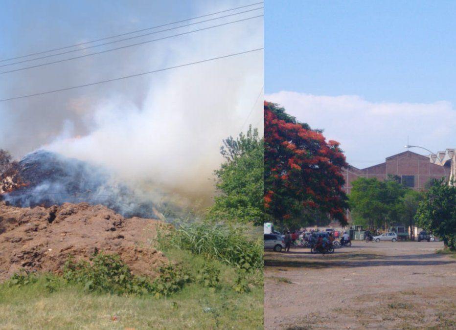Explosión e incendio en el Ingenio La Esperanza