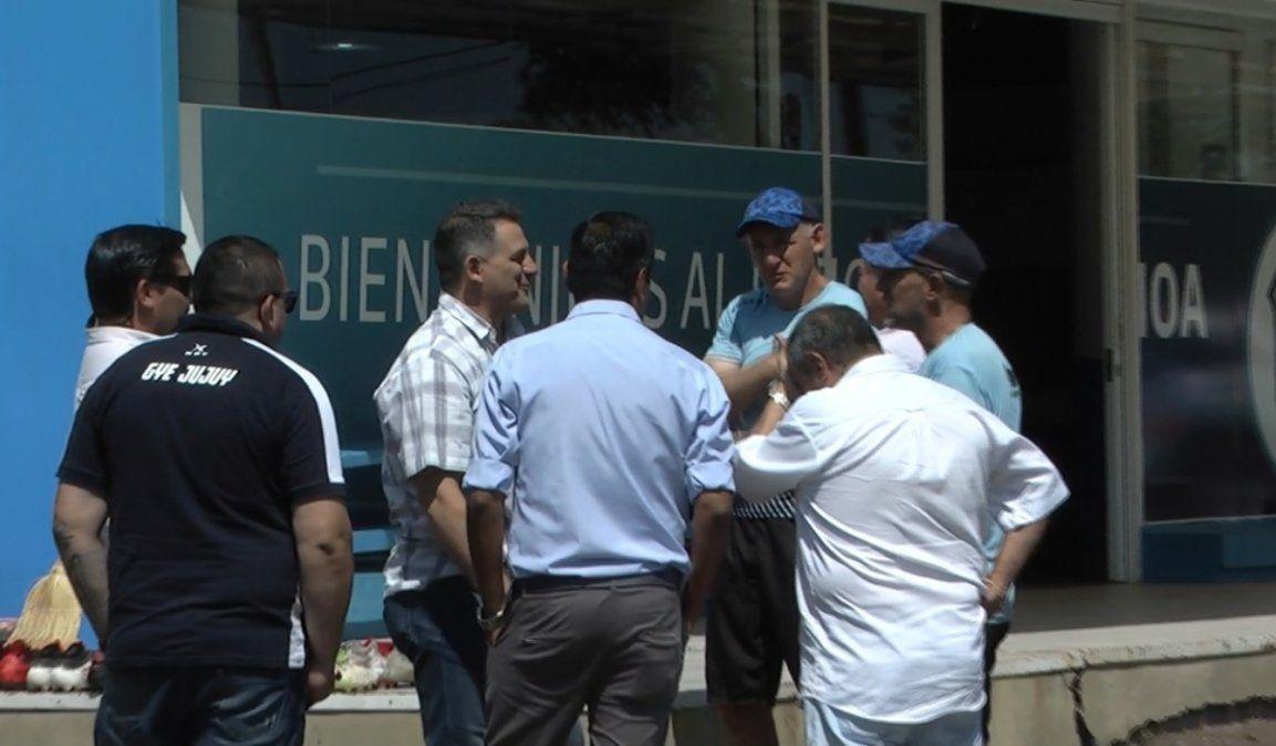 López y Córdoba visitaron la práctica de Gimnasia