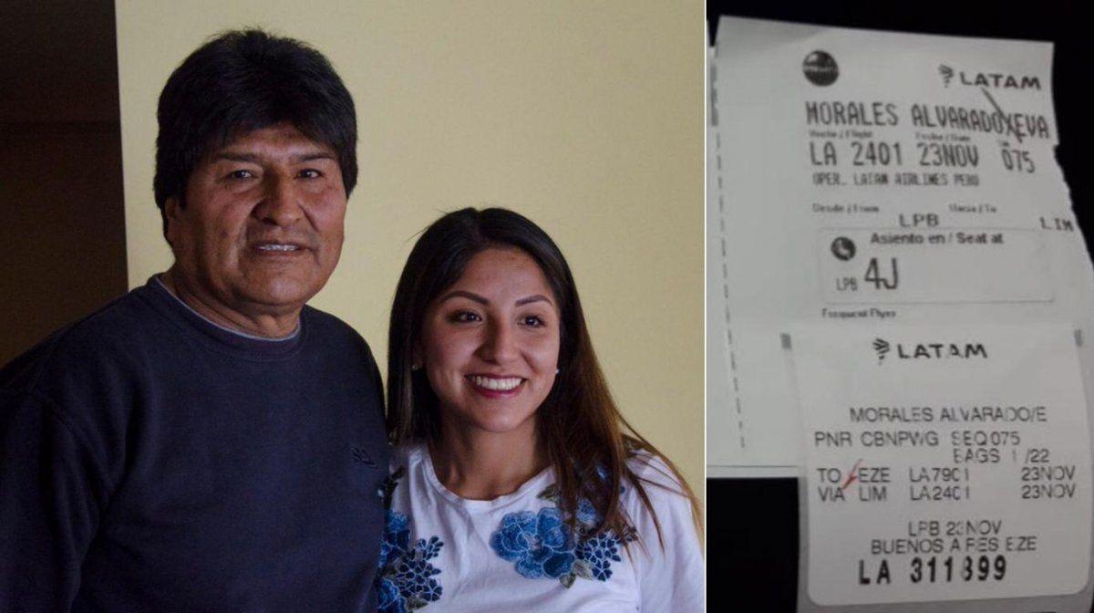 Los hijos de Evo Morales viajan de Bolivia hacia la Argentina