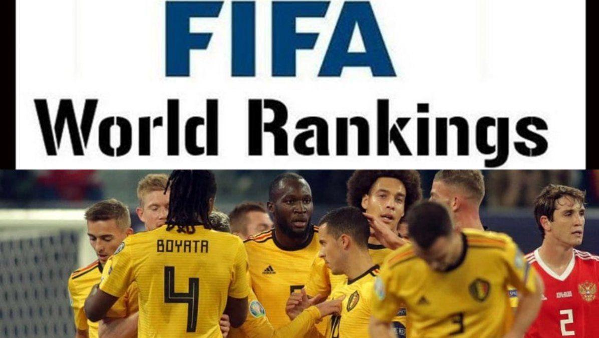Bélgica sigue liderando el ranking; Argentina en el top 10