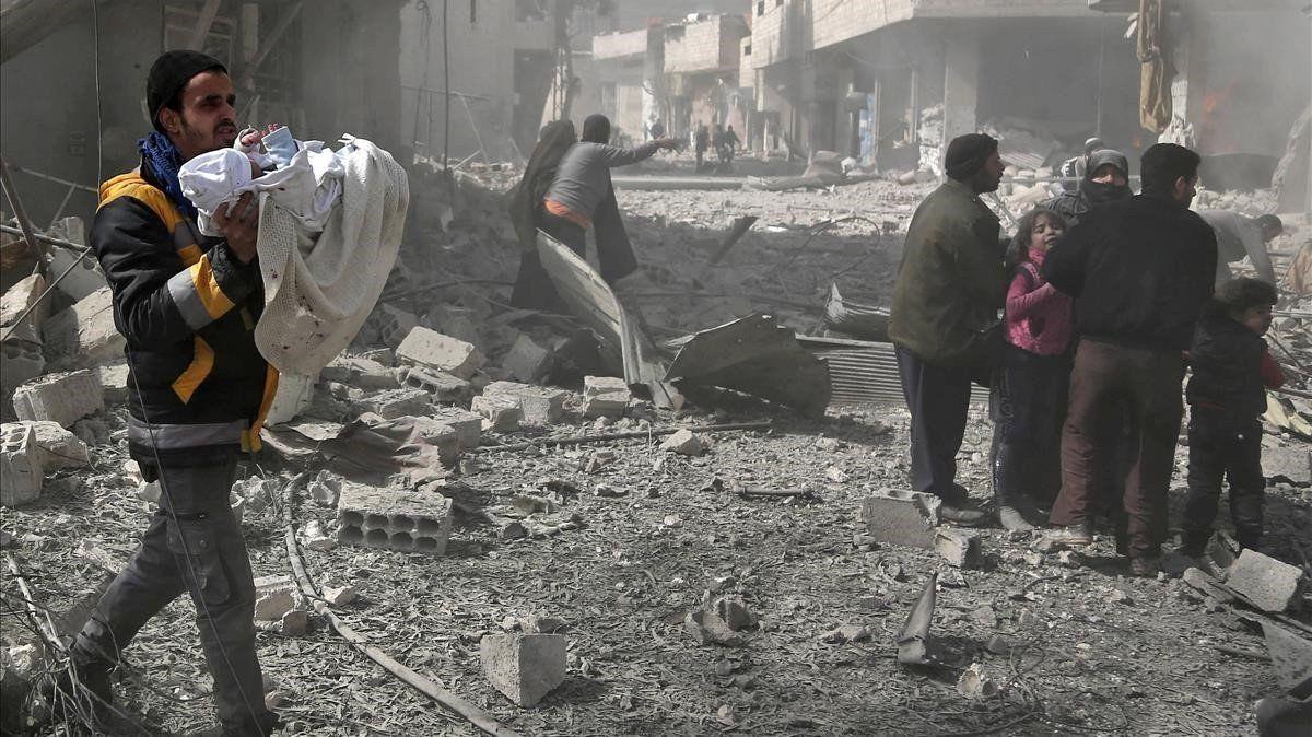 Más de 90 personas murieron en 48 horas en Siria