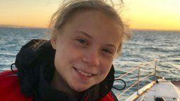 altText(Greta Thunberg llegó a la cumbre climática tras 20 días de viaje en Catamarán)}
