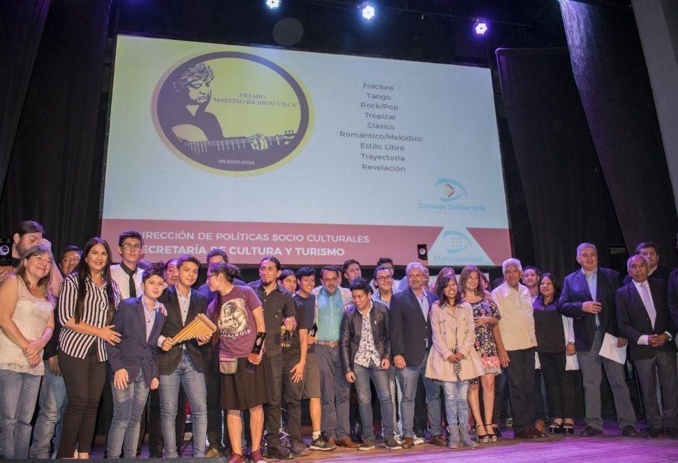 Entregaron los premios Ricardo Vilca a músicos destacados