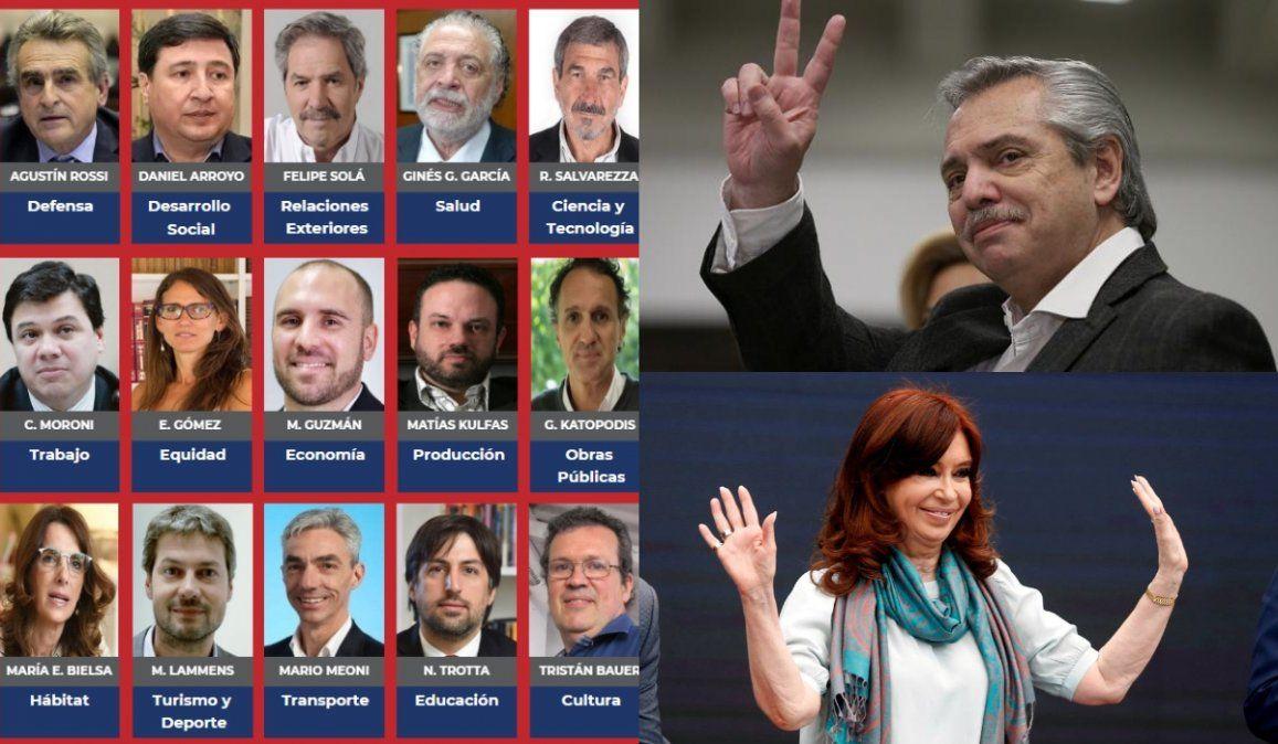 Cómo estará conformado el gabinete que presentará Alberto Fernández