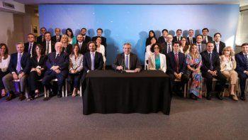 Alberto Fernández presentó su gabinete