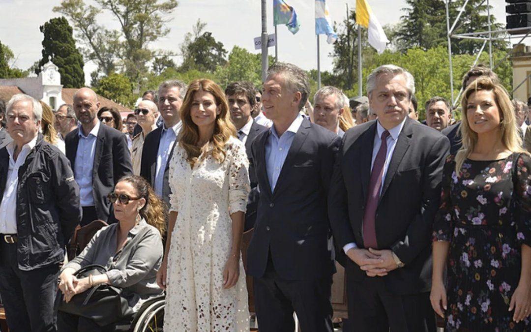 Mauricio Macri y Alberto Fernández participaron de una misa por la unidad y la paz