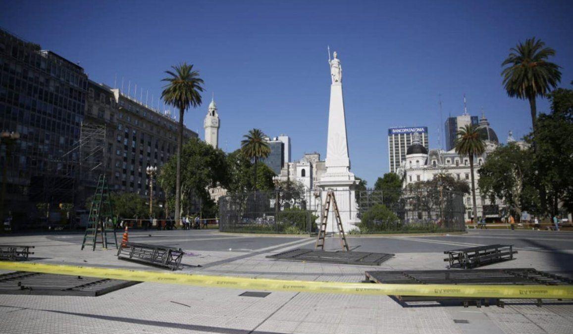 Plaza de Mayo llegará a la asunción presidencial sin rejas