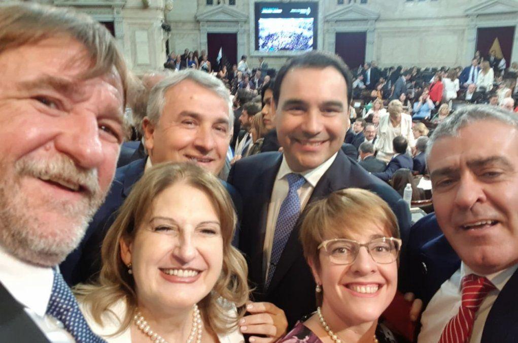 Morales presente en la asunción de Alberto Fernández