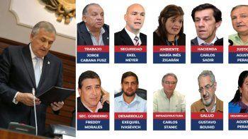 Sólo dos cambios en gabinete de Morales para su segundo mandato