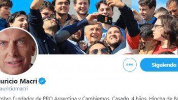 Macri ya cambió su perfil en redes sociales