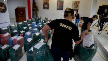 Golpe al narcotráfico: 478 kilos de cocaína incautados al norte de Asunción
