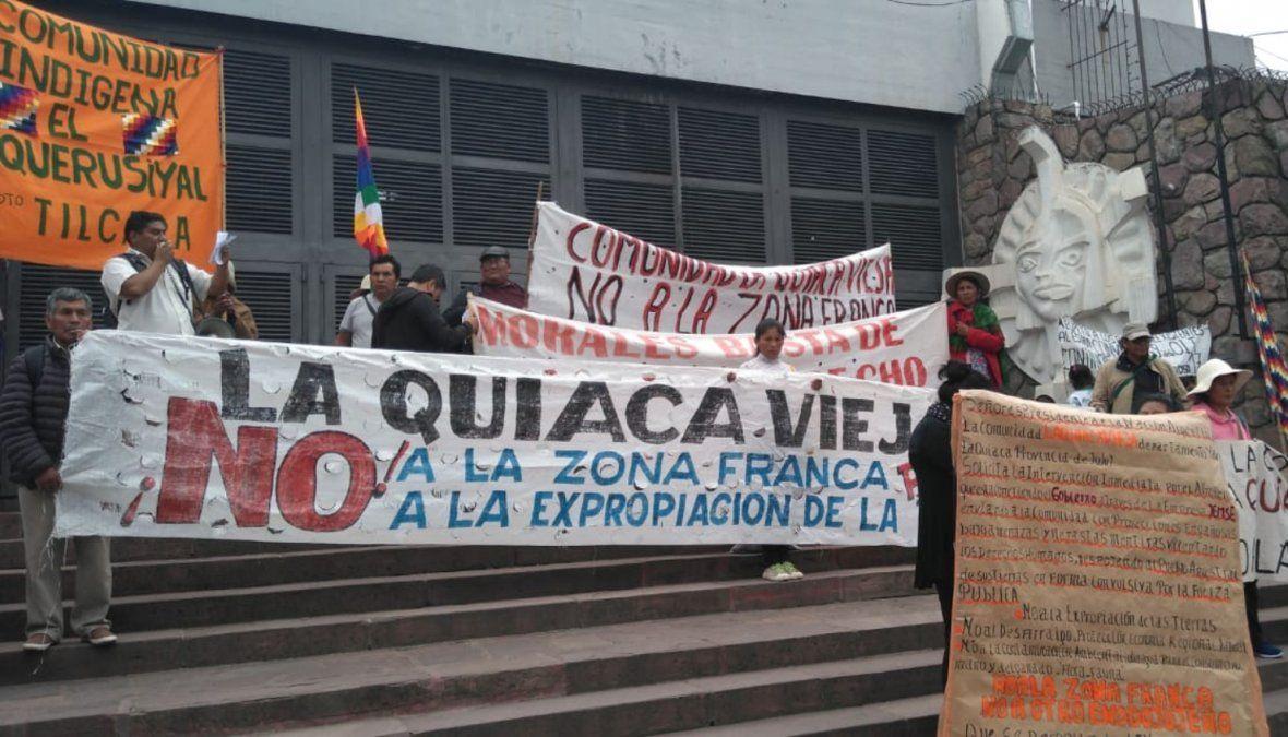 Zona Franca: el reclamo de comunidades de La Quiaca llegó a capital