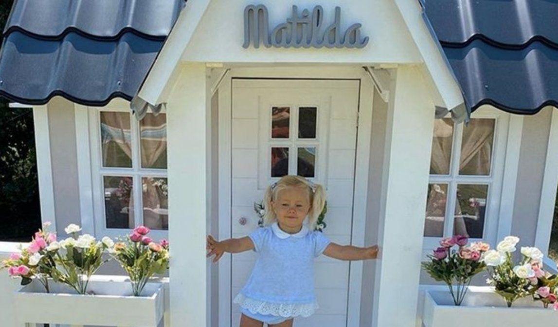 La casita de juguete de $260 mil que Luli Salazar le regaló a su hija