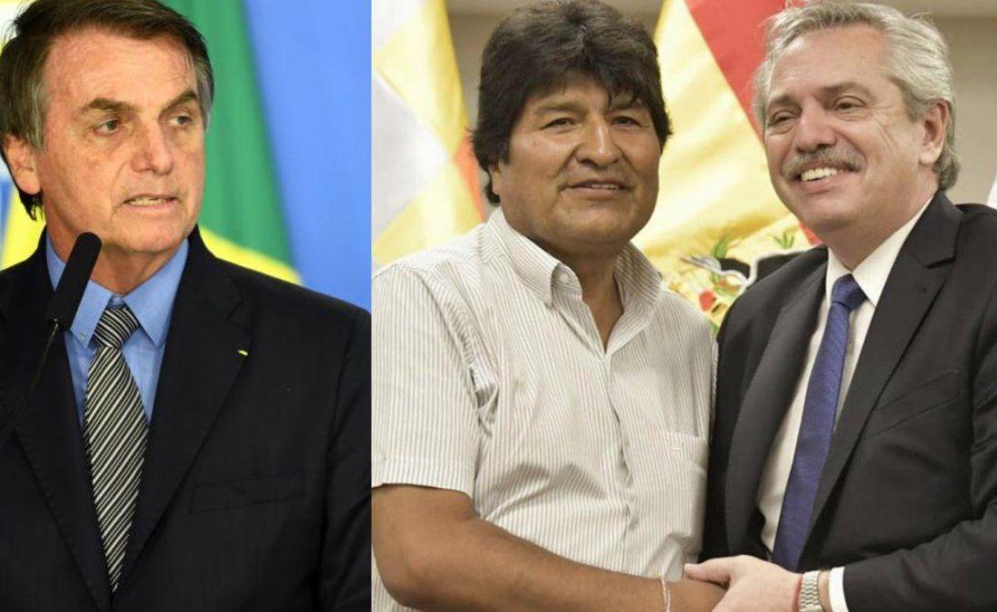 Bolsonaro cuestionó a Alberto por refugiar a Evo Morales e influir en la Justicia