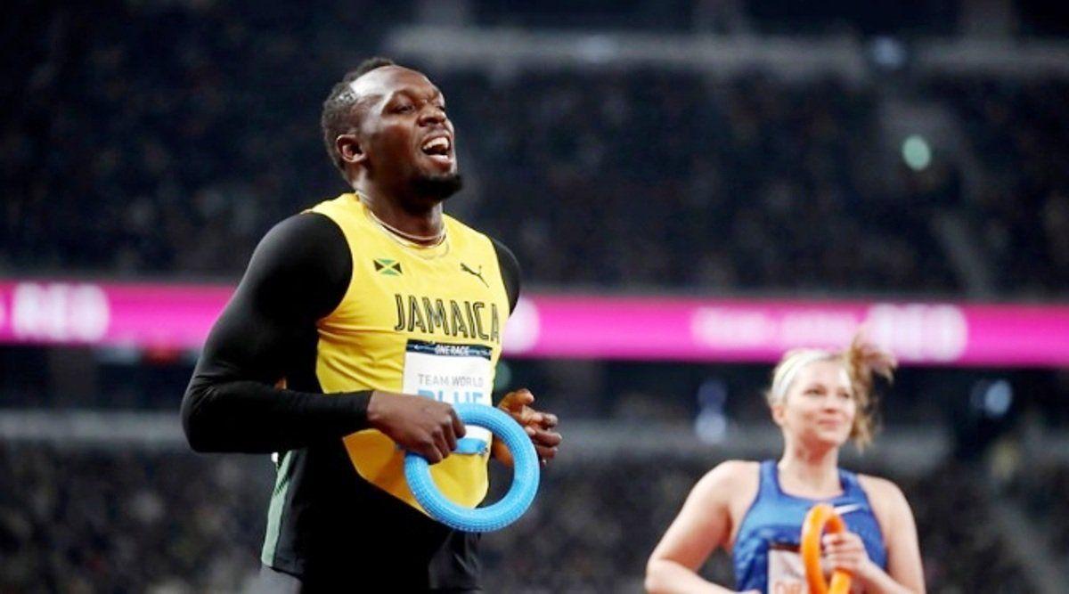 Usain Bolt volvió a las pistas en el Estadio Olímpico de Tokio