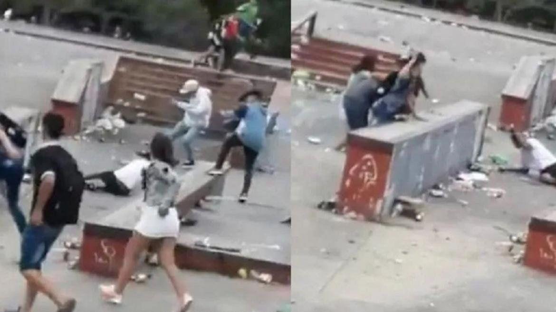 Un grupo de jóvenes protagonizó una violenta pelea en Navidad