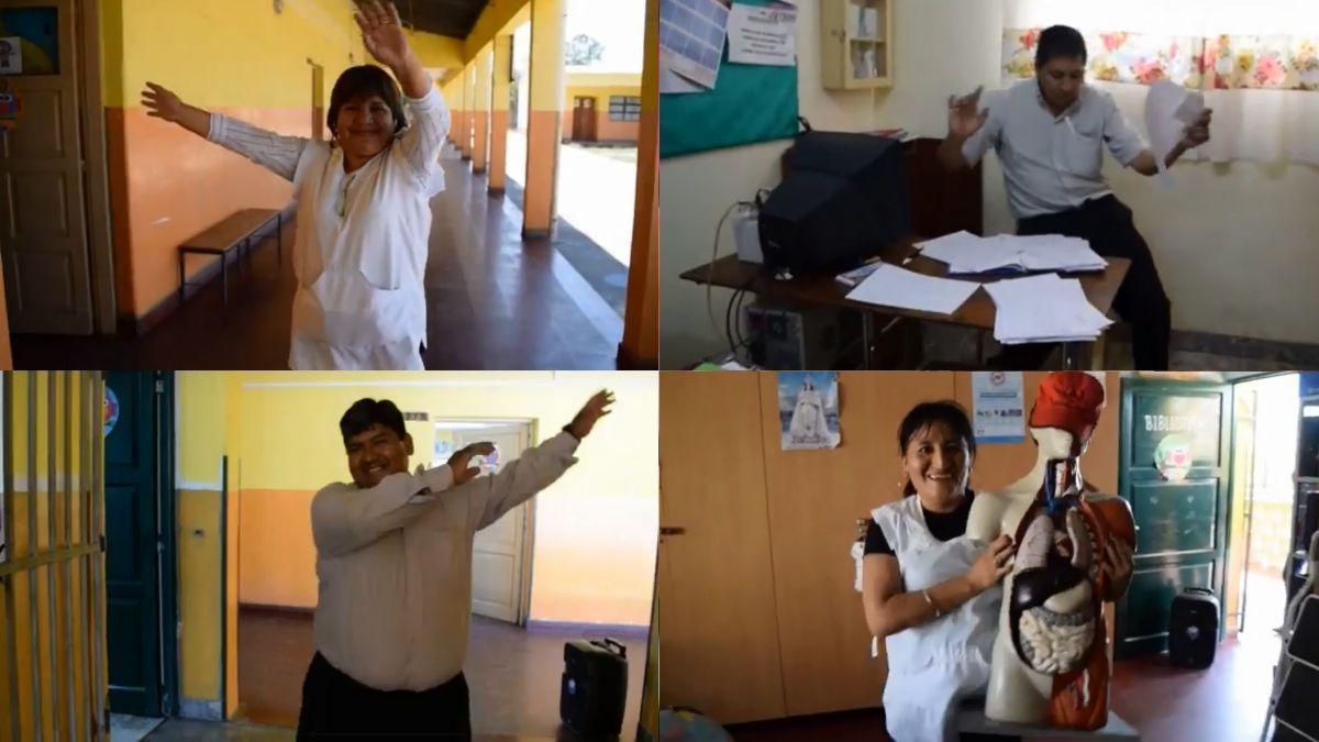 Docentes de una escuela de Palpalá se despidieron con mucha onda bailando en un video