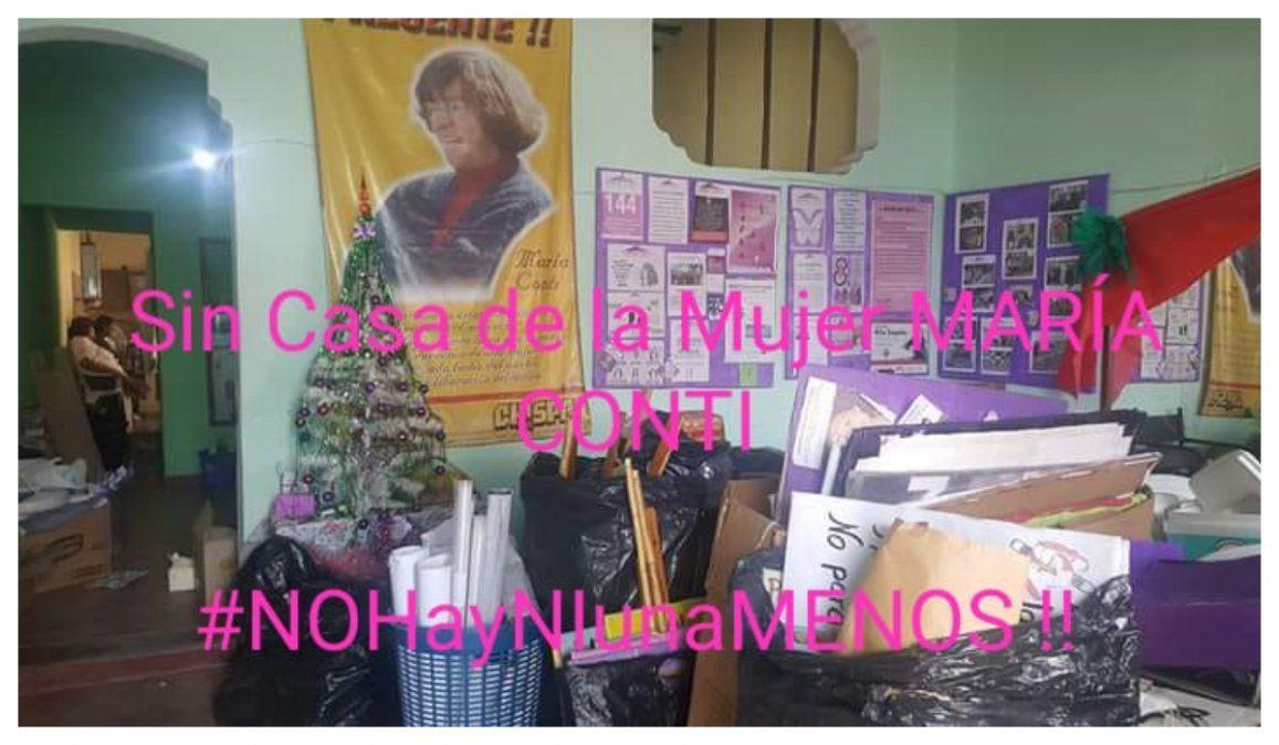 La Casa de la Mujer María Conti cerró ante la falta de gestión del gobierno