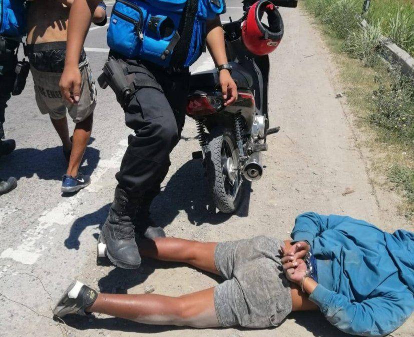 Dos motochorros detenidos tras el robo a una mujer en la zona sur