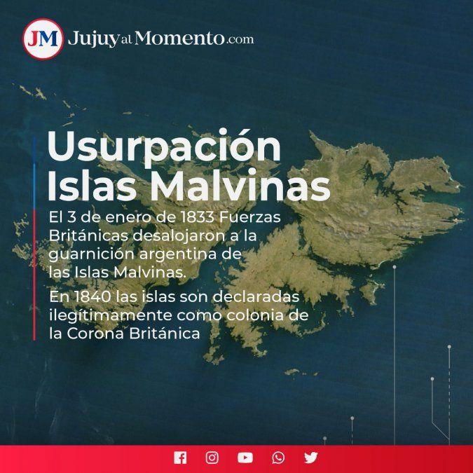 Islas Malvinas: se cumplen 187 años de la usurpación británica