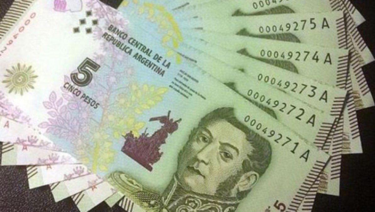 Último mes para el uso de billetes de 5 pesos