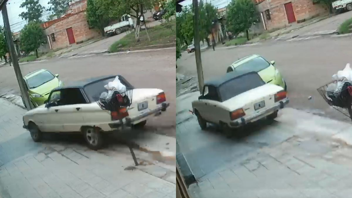 Palpalá: un auto se dio a la fuga luego de chocar contra un poste y derribarlo
