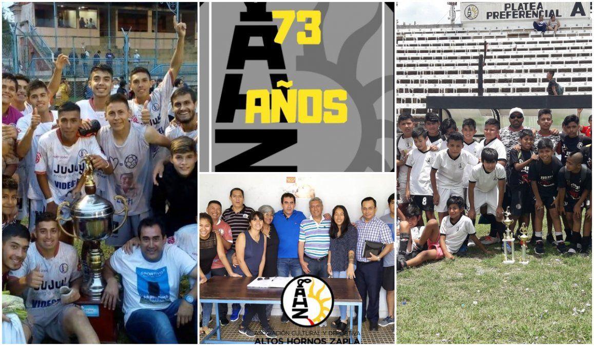 Cumpleaños merengue, 73º aniversario de Altos Hornos Zapla