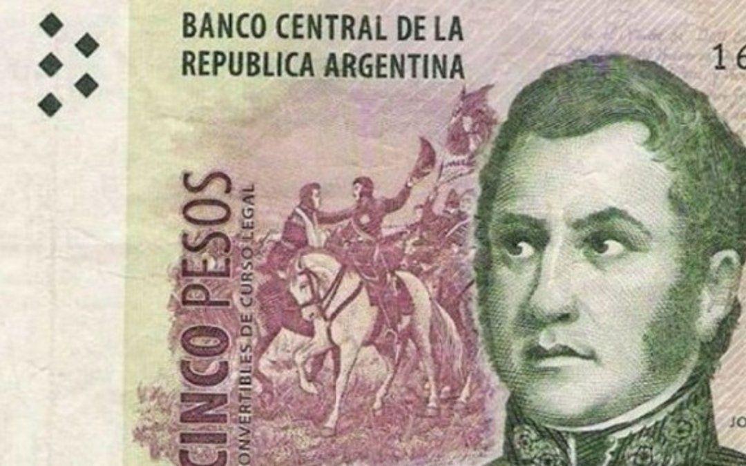 El billete de 5 pesos dejará de utilizarse el 31 de enero