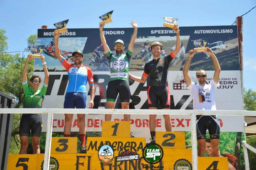 Javier Palito Macías ganó la primera fecha del campeonato de mountain bike