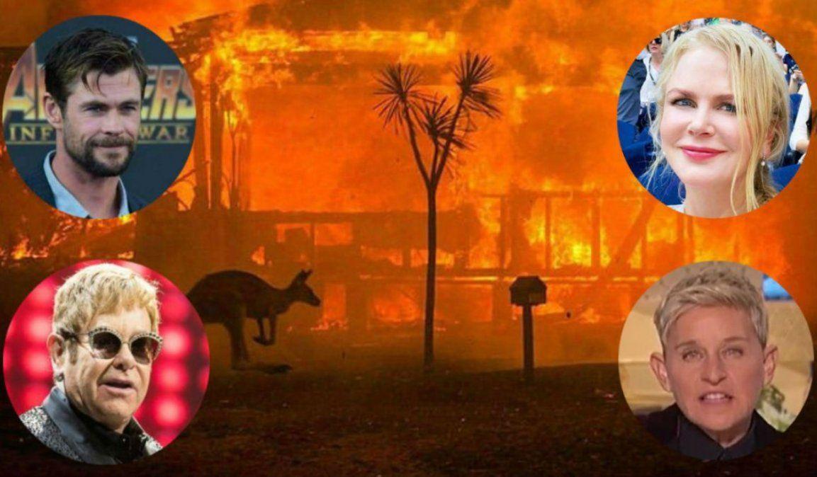 Celebridades donan millones para combatir los incendios en Australia