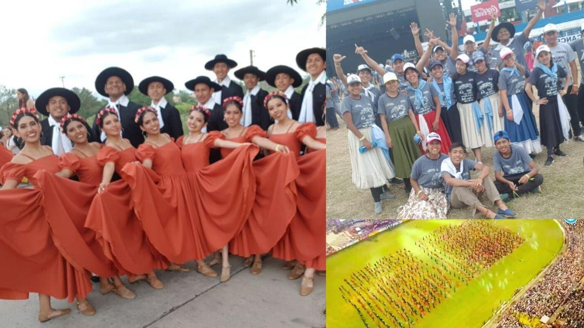 Los bailarines que recaudaron dinero en el semáforo brillaron en Jesús María