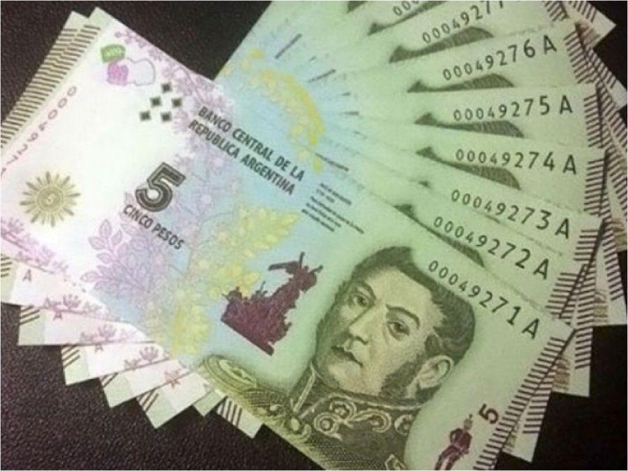 Piden suspender por 6 meses la salida del billete de 5 pesos