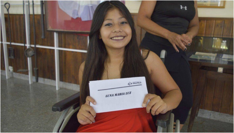 María Luz Luna recibió los pasajes para entrenar con la selección