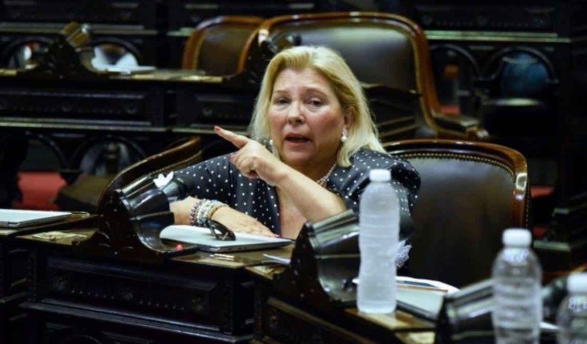 Carrió pidió el refugió de diputados venezolanos perseguidos por Maduro