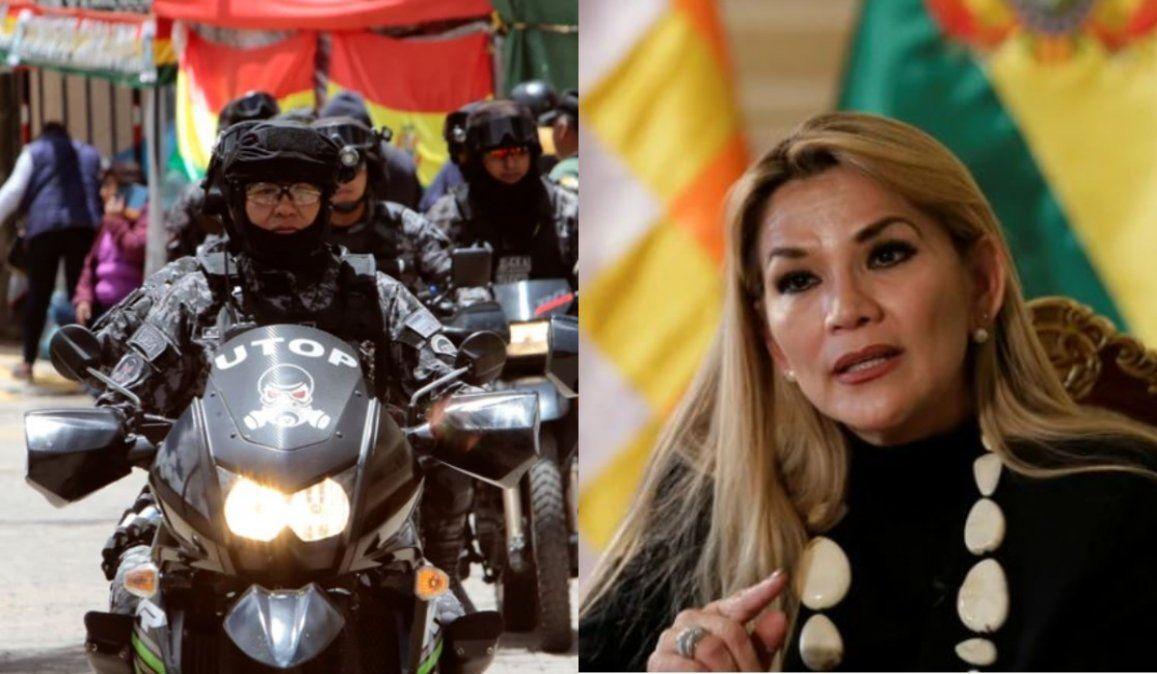 Tensión en Bolivia: Jeanine Añez desplegó militares y policías ante amenazas del MAS