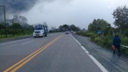precaucion en ruta 9 por neblina y lloviznas en barcena