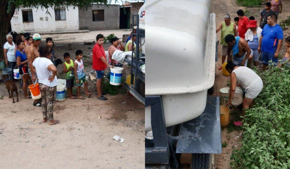 Vecinos de Chalicán recurren a las acequias ante la falta de agua