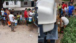 vecinos de chalican recurren a las acequias ante la falta de agua