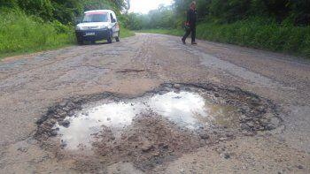 Peligro de siniestralidad: rutas provinciales en pésimo estado
