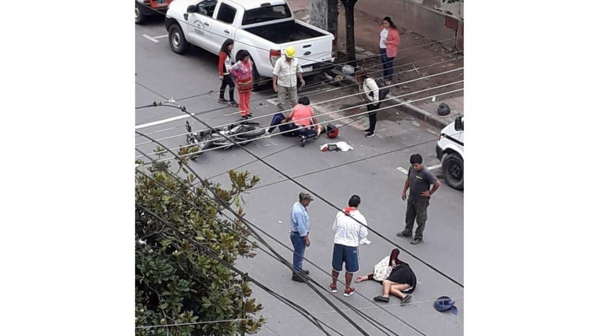 Atropellaron a dos mujeres en pleno centro