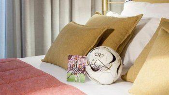 Cristiano Ronaldo inauguró un hotel en Madrid